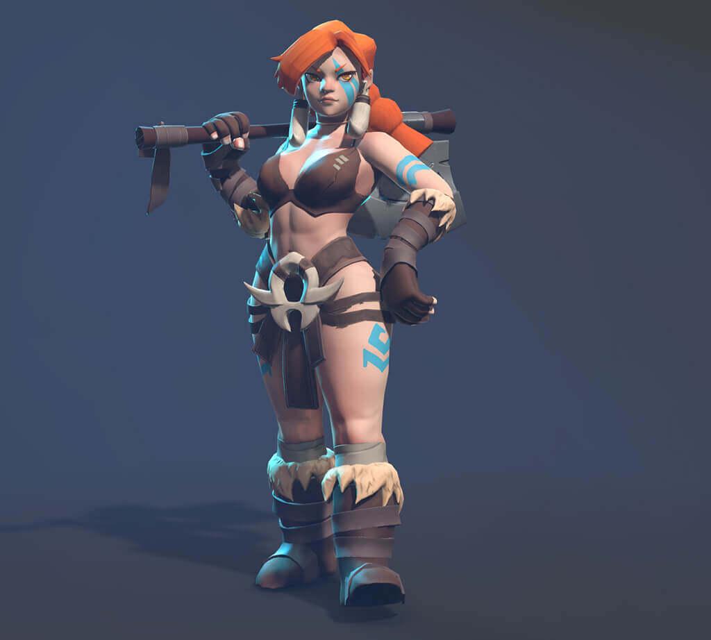 Posed Female Barbarian